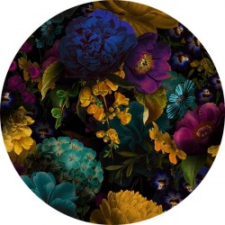 Muursticker FBRK. Dark Flowers