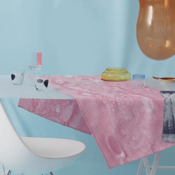 Fungy! Table runner N°2 pink