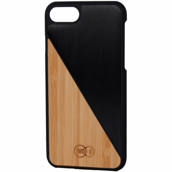 Bamboe Zwart Aluminium - iPhone 6/7 case