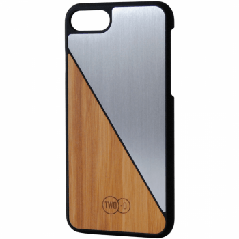 Bamboe Zilver Aluminium - iPhone 6/7 case