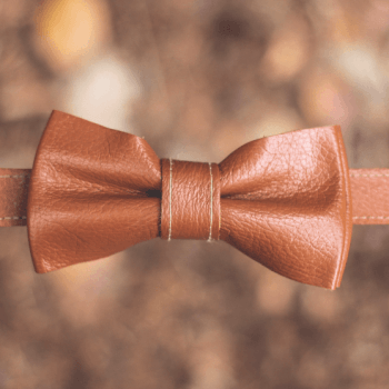 Leather Bow-tie, Upcycled By Hand