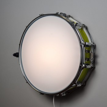 Snare Drum Wall Light Vintage Green
