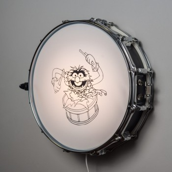 Snare Drum Wall Light Black