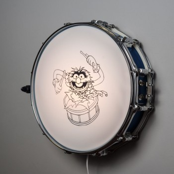 Snare Drum Wall Light Blue