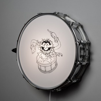 Snare Drum Wall Light Chrome