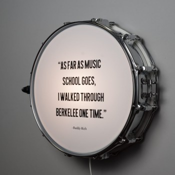 Snaredrum Wandlamp - Quote Buddy Rich