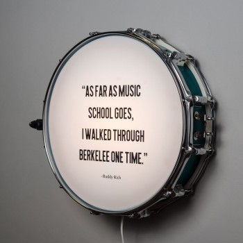 Snare Drum Wall Light Quote Turquoise