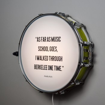 Snare Drum Wall Light Quote Vintage Green