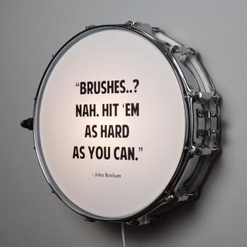Snare Drum Wall Light Quote John Bonham