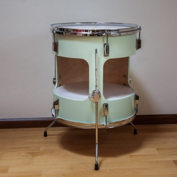 Floortom table Mintgreen/White