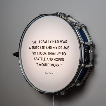 Snare Drum Wall Light Quote Blue