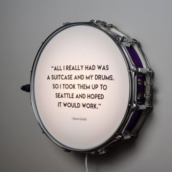 Snare Drum Wall Light Quote Deep Purple