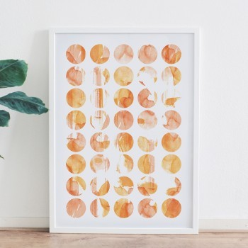 Circles of colors poster
