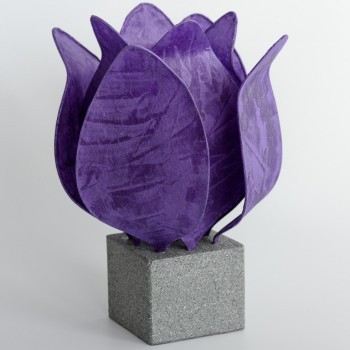 Tulp Lamp - donker paars