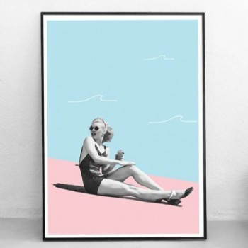 Poster Grafisch Ontwerp: 'Day at the Beach'|Print