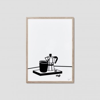 Table stories (coffee) print