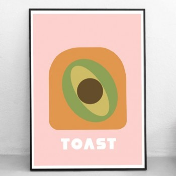 Poster Grafisch Ontwerp: 'Avocado On Toast'