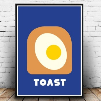 Poster Grafisch Ontwerp: 'Omelet On Toast' | Print