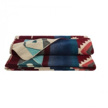 Plaid Native Double Print Wine Red