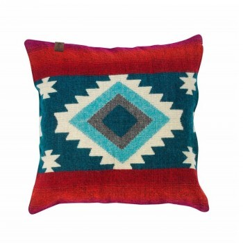 Pillow Native Double Print Turquoise