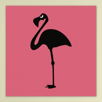 Angry Animals: Flamingo - op dibond