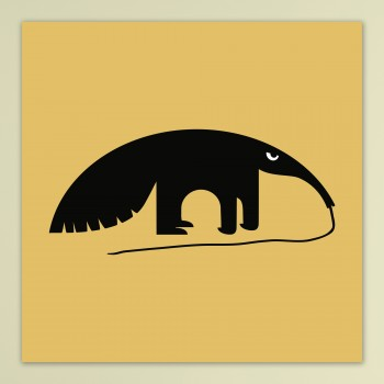 Angry Animals: Anteater - op dibond