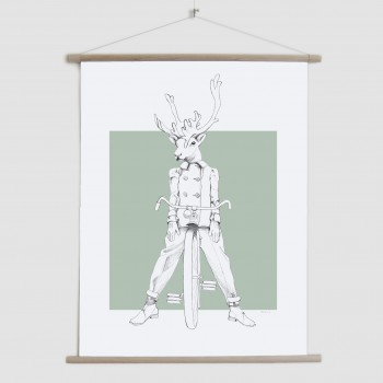 Weird & Wonderful: Racing Reindeer - canvas poster