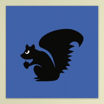 Angry Animals: Squirrel - op dibond
