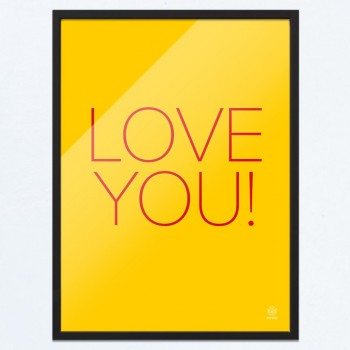 Arty-Shock poster 'Love you'
