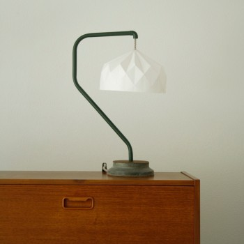 Origami Army Green Seven Lamp