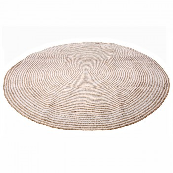 HANOI rond Vloerkleed I Natural/wit