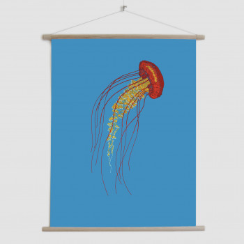Stitches: Jellyfish - canvas poster