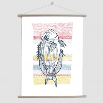 Stitches: Fish - canvas poster