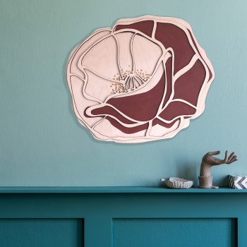 Poppy 3D Wall art  - L limited edition