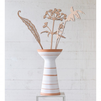 Striped vase - one of a kind