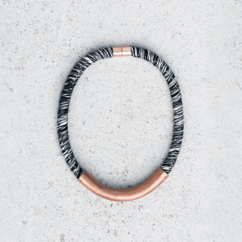 BW & Copper Simy Necklace