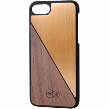 Walnoten Brons Aluminium - iPhone 6/7 case