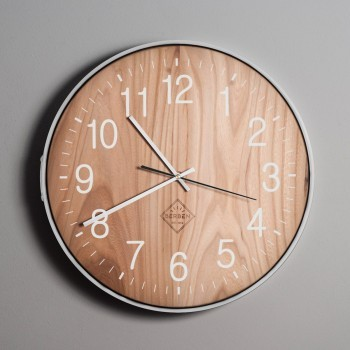 Solid Wood Clock - Oak/White/Classic