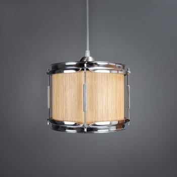 Drum Hanglamp 'Smith' Eiken