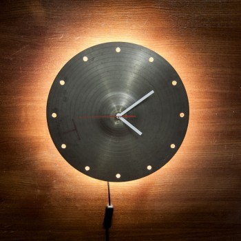 Cymbal Clock with Light