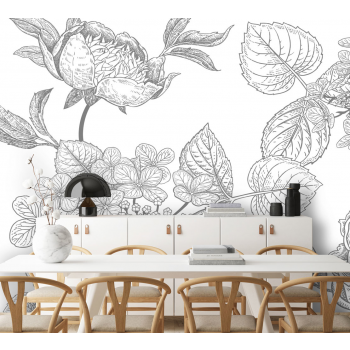 Daring Walls Behang Engraved Floral background -4