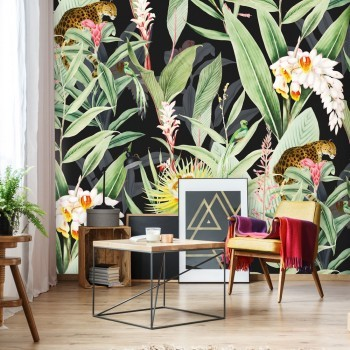 Daring Walls Behang Tropical Chic black