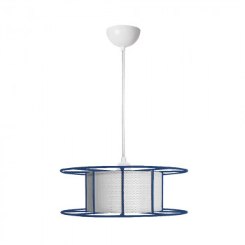 Duurzame outlet hanglamp SPOOL Blauw
