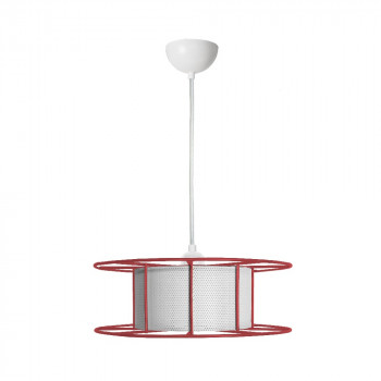 Duurzame outlet hanglamp SPOOL Rood