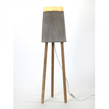 CONCRETE tafel/vloer lamp Large