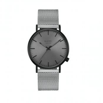 Watch I Black Out Silver Mesh