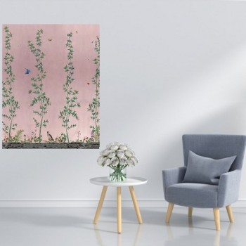 Behangpaneel 80*100 cm Chinois Pink