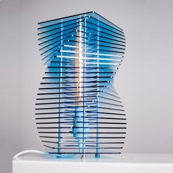 Moon Scape Lamp – Bending Blue