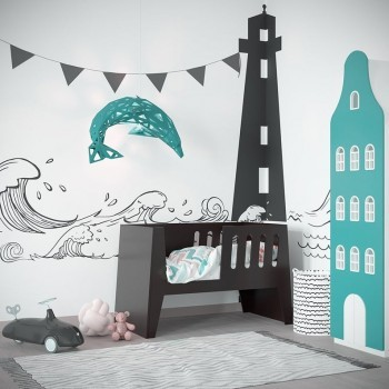 Dolphin Paper Lampshade Mint