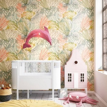 Dolphin Paper Lampshade Pink